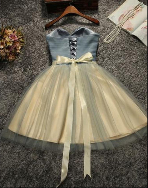 Short Prom Dresss, Cute Tulle Homecoming Dress
