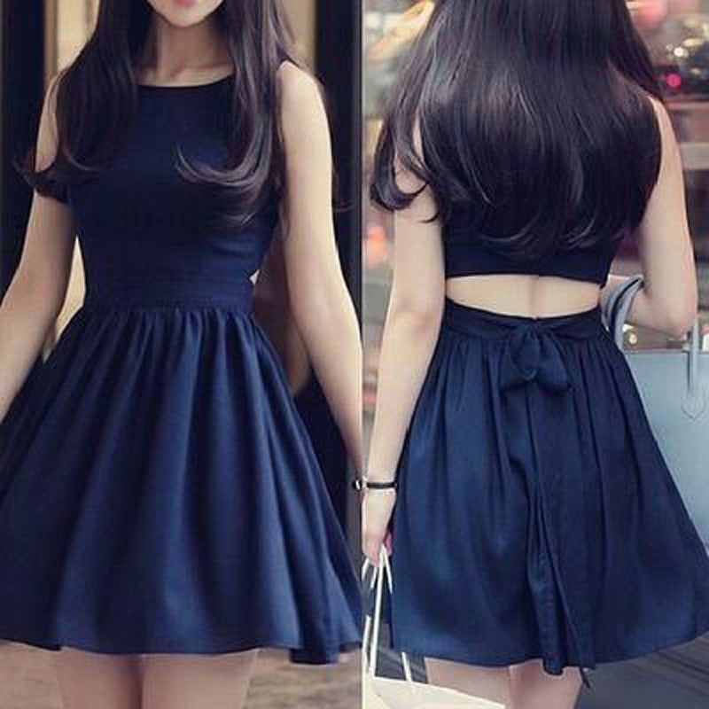Sexy Strapless Homecoming Dress,A Line Royal Blue  Bowknot Homecoming Dress