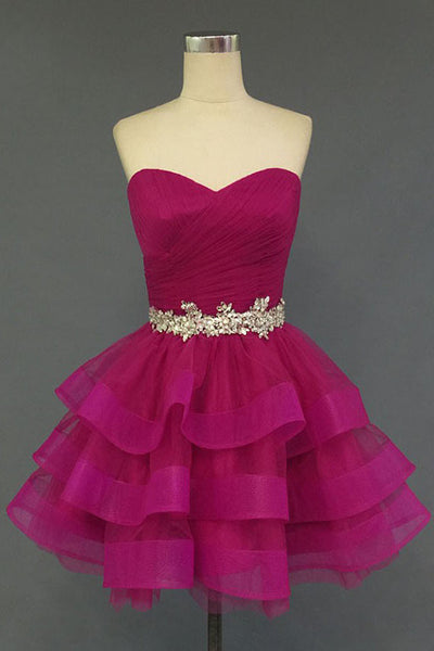 A Line Red Homecoming Dress, Homecoming Dresses 2016