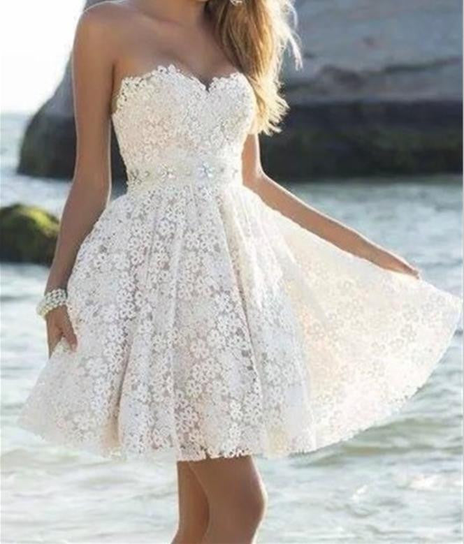 Short Lace Homecoming Dress, Homecoming Dresses 2016