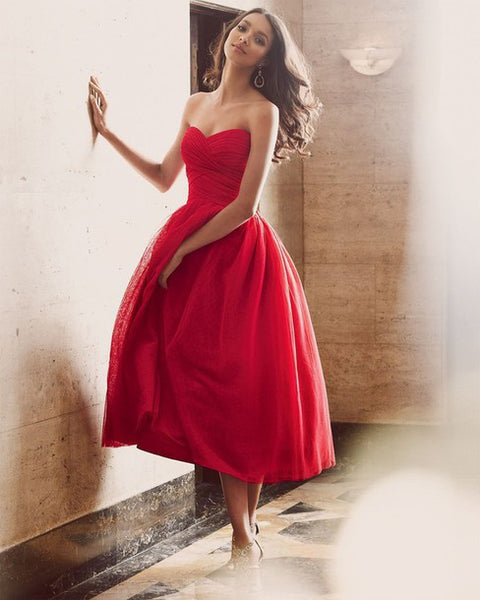 Custom Made Red Chiffon Homecoming Dress, Long Homecoming Dress,Homecoming Dresses