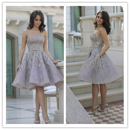 Homecoming Dress, Gorgeour Homecoming Dresses, Full Sparkly Homecoming Dress