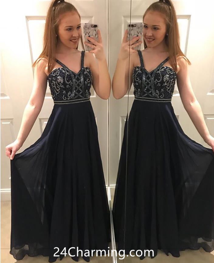 Applique Black Pageant Dress Lace up Prom Formal Dress