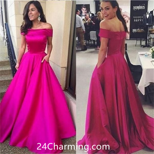 A Line Off Shoulder Pageant Dress Prom Dress
