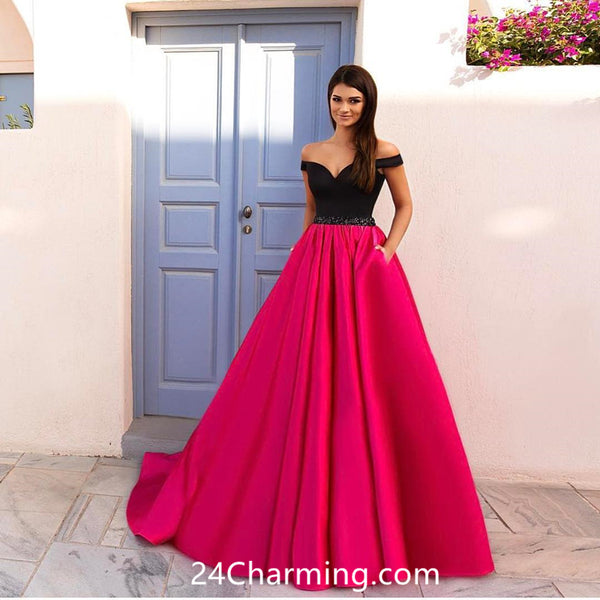 A Line Simple Prom Dress 2018, Stunning Pageant Dress