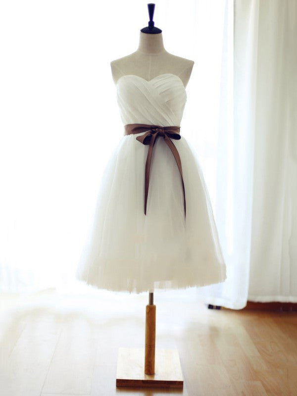 Homecoming Dress, Simple Homecoming Dress,White Tulle Homecoming Dress,Cute Homecoming Dress
