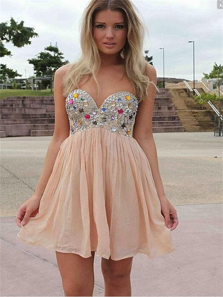 Sparkly Homecoming Dress, Cheap Homecoming Dress,Junior Homecoming Dress