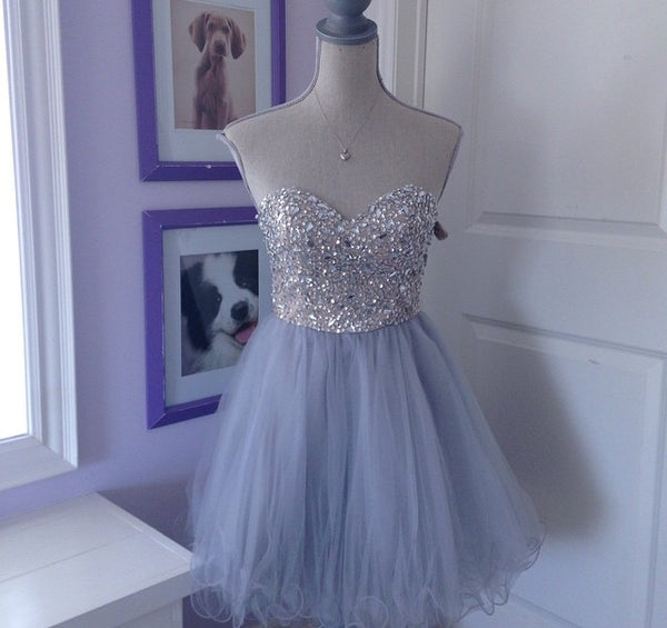 Homecoming Dress,Sweetheart Homecoming Dress,Tulle Homecoming Dress