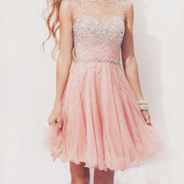 Homecoming Dress,Popular Pink Homecoming Dress,Cocktail Dresses