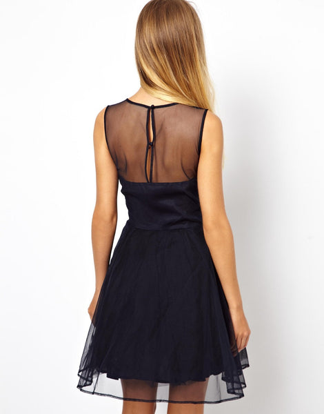 Black Homecoming Dress With White Applique,A-line MIni Homecoming Dresses