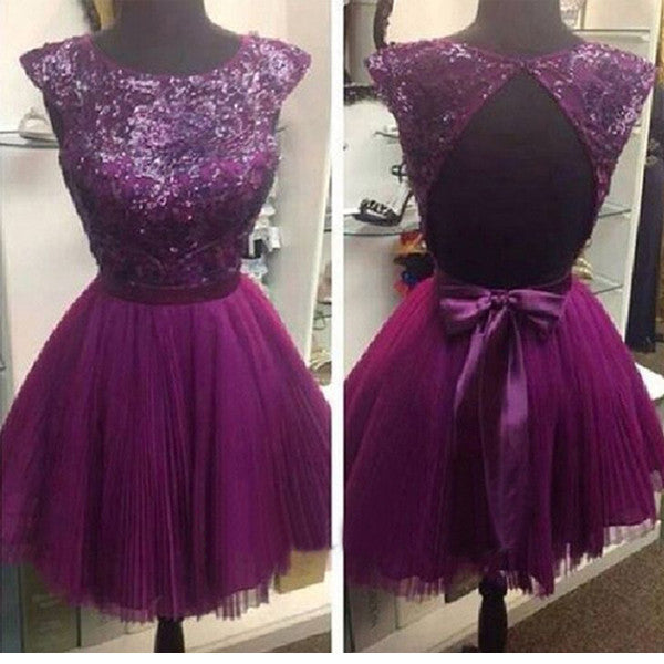 Purple Homecoming Dresses, Junior Homecoming Dresses