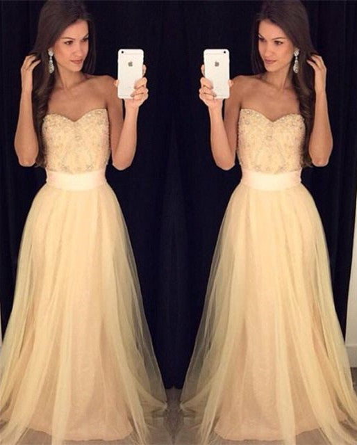 Simple Sweetheart Prom Dress,Long Chiffon Prom Dresses,Evening Dresses