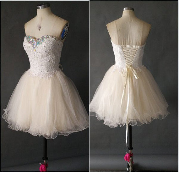 Homecoming Dress, Tulle Short Homecoming Dresses