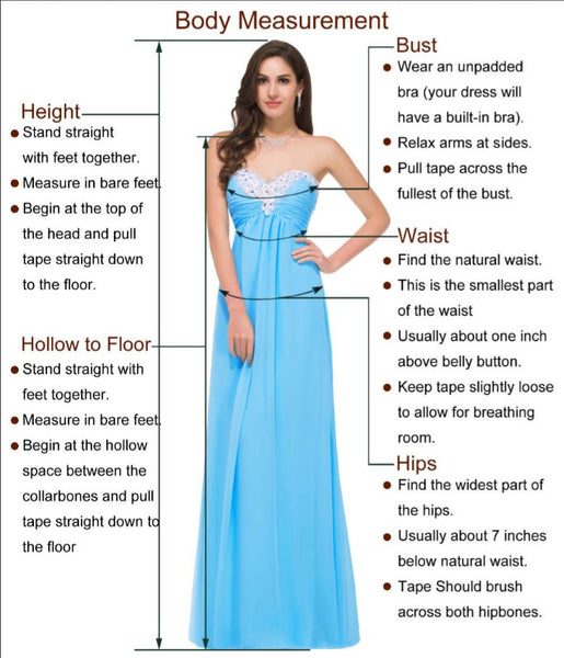 A Line Blue Prom Dress, Beaded Elegant Pageant Dress