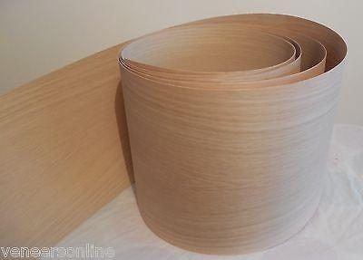 300mm WIDE IRON-ON WHITE OAK WOOD VENEER STAIR STRING STRINGER Plinths ETC