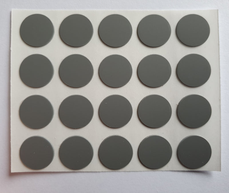 Self Adhesive Stick on Furniture Screw Caps Screw Hole Covers , 13mm,  DUST GREY