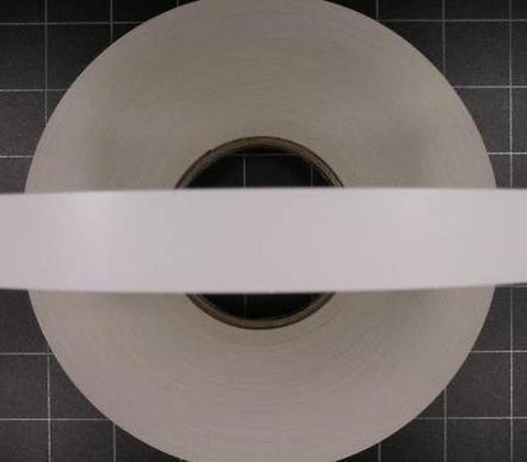 ABS / PVC Edging PREGLUED WHITE SMOOTH 22mm x 0.8mm - 150 Metres - (*NOT IRON ON*)