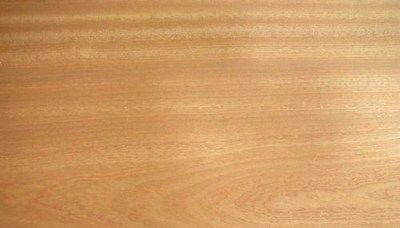 IRON-ON MAHOGANY SAPELE PRE GLUED WOOD VENEER SHEET 2500mm x 300mm