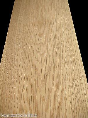 "IRON-ON WHITE OAK WOOD VENEER SHEET 2500mm x 150mm 100"" x 6"""