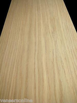 "IRON-ON WHITE OAK WOOD VENEER SHEET 2500mm x 250mm 100"" x 10"""