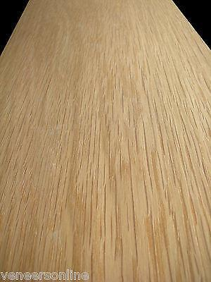 IRON-ON WHITE OAK WOOD VENEER STAIR STRING STRINGER SHEET 4500mm x 300mm