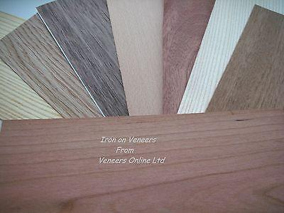 Iron on Wood Veneer Sheets: Oak, Walnut, Teak, Beech, Mahogany, Pine, Ash, Cherry, Wenge