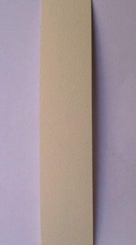 Plastic / ABS Edging Unglued ALABASTER / IVORY 22mm x 1mm - Various lengths