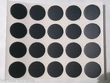 Self Adhesive Stick on 13mm Plastic Furniture Screw Hole Covers,  Select Colour & Qty