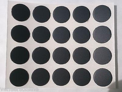 Self Adhesive Stick on Furniture Screw Hole Covers, 13mm,  BLACK