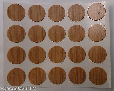 Self Adhesive Stick on Furniture Screw Hole Covers, 13mm,  CLASSIC OAK