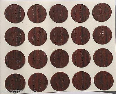Self Adhesive Stick on Furniture Screw Hole Covers,13mm,  WALNUT / DARK MAHOGANY