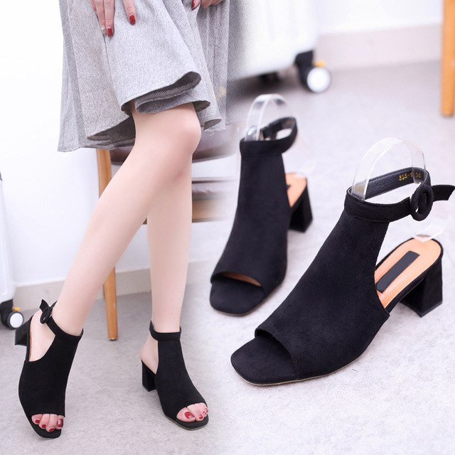 Sandals Women Summer Shoes Slingbacks High Heels
