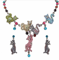Colorful Lovely Cat Family Necklace - Ezy Buy Outlet