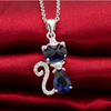 Image of Silver Cat Animal Bridal Necklace - Ezy Buy Outlet