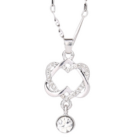 Double Heart Pendant Necklace - Ezy Buy Outlet