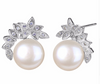 Image of Silver Cubic Zircon Bridal Earrings - Ezy Buy Outlet