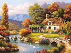 Fairyland Landscape Acrylic Paint On Canvas DIY (Frameless) - Ezy Buy Outlet