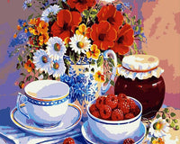 Flower And Fruit Acrylic Painting on Canvas - DIY KIT (Frameless) - Ezy Buy Outlet