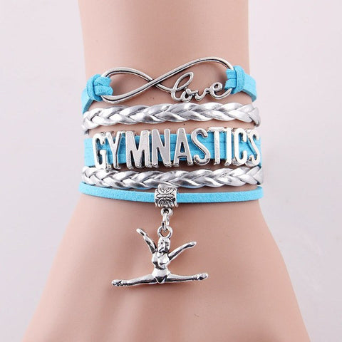 """LOVE GYMNASTICS"" BRACELET JEWELRY -in 7 COLORS - Ezy Buy Outlet"