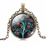 Jewelry - ETERNAL TREE OF LIFE  Pendant Necklace - Glass Cabochon Bronze Chain - 11 AMAZING DESIGNS