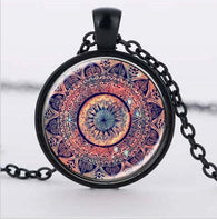 Jewelry - Mandala Splendor Kaleidoscope Crystal Cabochon  Necklace For Women
