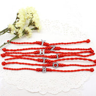 Jewelry - Red Rope Bracelets For Women With Alphabets