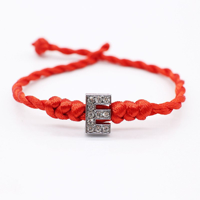 Red Rope Bracelets for Women with Their Initials - Ezy Buy Outlet