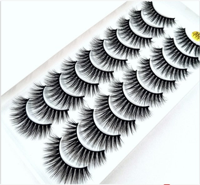 NEW5/10Pairs 3D Faux Mink Eyelashes Natural Thick Long False Eyelashes Dramatic Fake Lashes Makeup Extension Eyelashes maquiagem