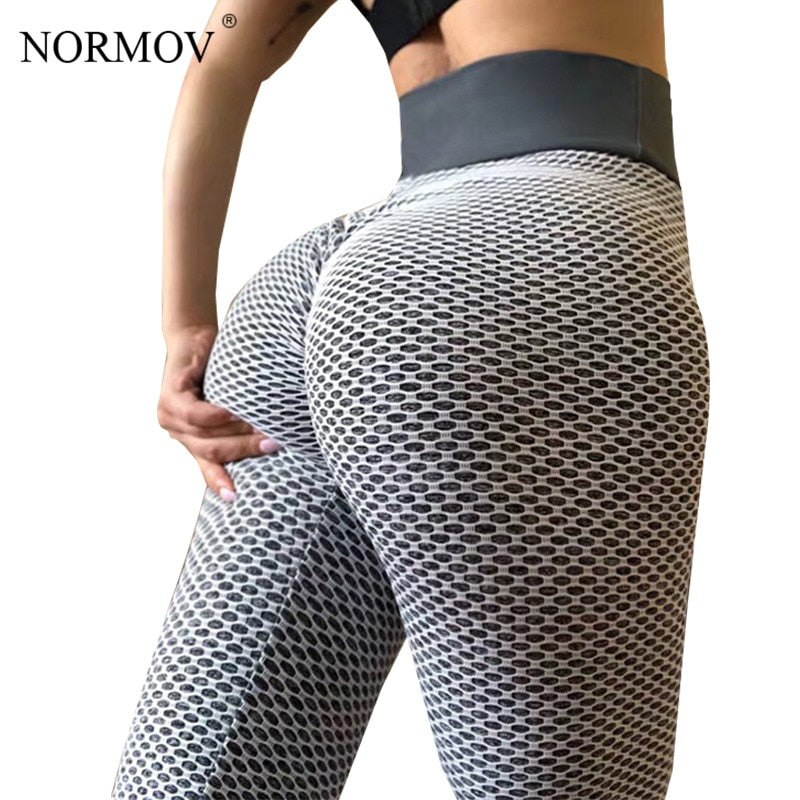 NORMOV High Waist Dot Fitness Leggings Women Workout Push Up Leggings Activewear Leggings Fitness Feminina Jeggings