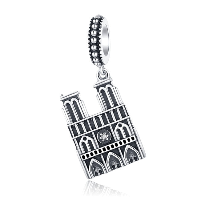 925 Sterling Silver Berloque Family House Eiffel Tower Camera Travel Dream Coffee Cup Shoes Charm Fit Charm Bracelet DIY Jewelry