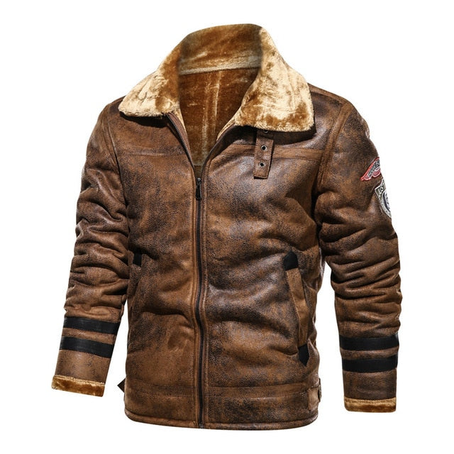 Large Size 4XL Sheepskin Slim Aviation Genuine Leather Bomber Jacket Men Real Leather Flights Clothes for Male Winter Pilot Coat