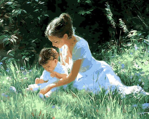 Mom & Child DIY Painting By Numbers For Home Decor - Ezy Buy Outlet