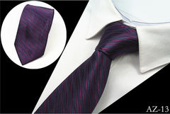 Classic Striped Business Silk Tie For Men