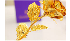 Best Gift For Wife/Girlfriend - Golden Rose Flower with Box
